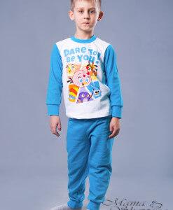 пижама голубая на мальчика