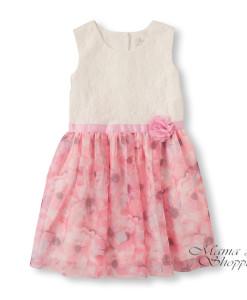 2056972 платье розовое белое