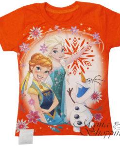 футболка Анна и Эльза с снеговиком